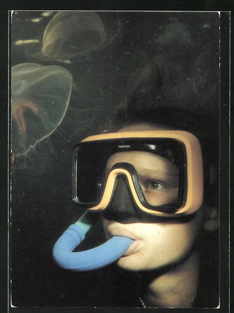AK Durch den Tauchsport der GST, Erlebnis Unterwasserwelt