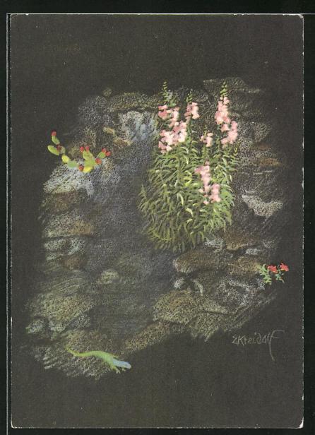 Künstler-AK Ernst Kreidolf: Frühling im Tessin