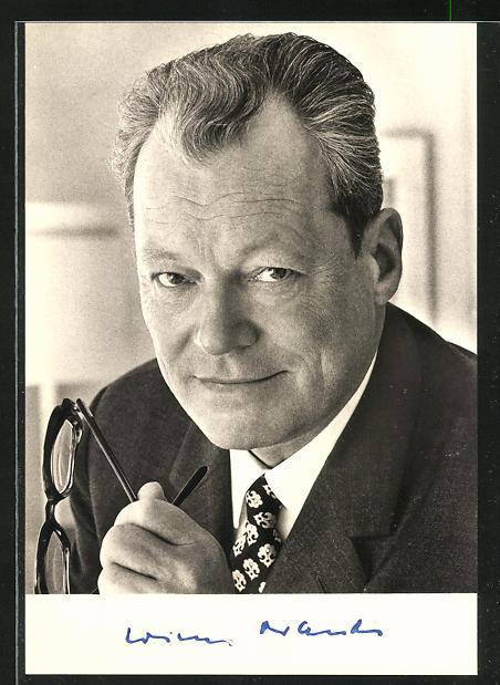 AK Bundeskanzler und Vorsitzender der SPD Willy Brandt