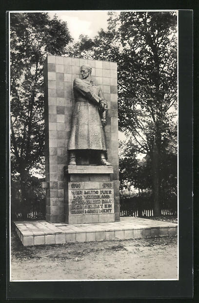 AK Züllichau / Sulechow, Baustein für das Ehrenmal der im Weltkrieg 1914-18 Gefallenen