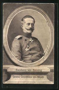 AK General von Bissing, General-Gouverneur von Belgien, in Uniform mit Eisernem Kreuz