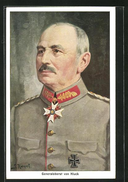 AK Generaloberst von Kluck in feldgrauer Uniform mit Eisernem Kreuz