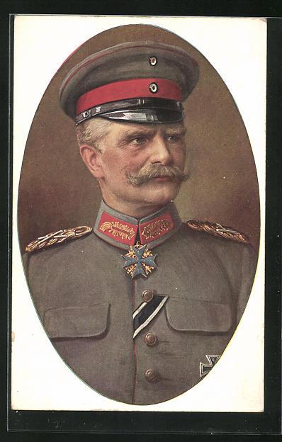 AK Generalfeldmarschal von Mackensen in feldgrauer Uniform mit Eisernem Kreuz