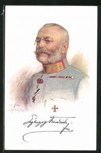 AK General Erzherzog Friedrich von Österreich-Teschen in Uniform mit Eisernem Kreuz