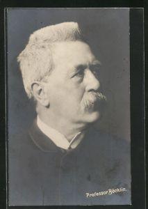 Künstler-AK Arnold Böcklin: Portrait Professor Böcklin mit Schnauzbart