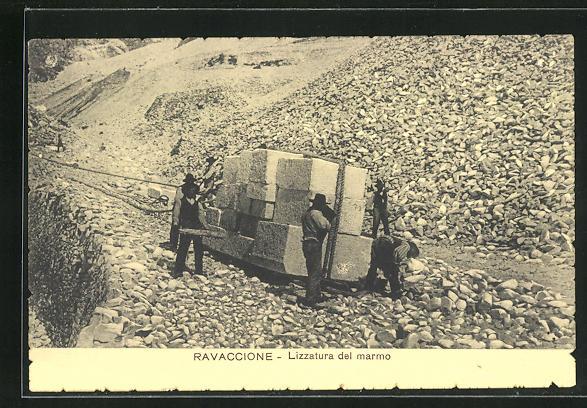 AK Carrara-Ravaccione, Lizzatura del marmo