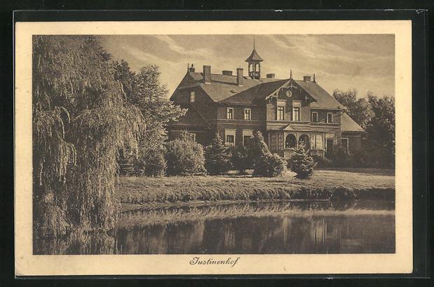 AK Kerkow, Ansicht vom Schloss-Gut Justinenhof