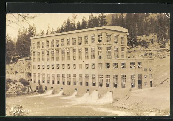 AK Huntington Lake, CA, Power House, Southern California Edison Company