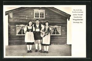 AK Trachtenkapelle Jodler-Terzett Geschwister Wegscheider, Scheidegg / Allg.