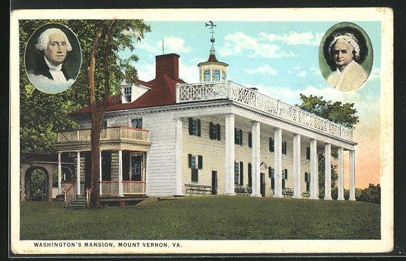 AK Präsident der USA, George Washington`s Mansion, Mount Vernon, Va.