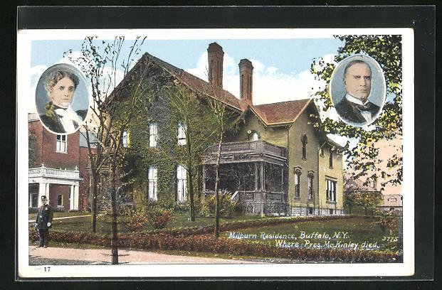 AK Präsident der USA, Mc Kinley, Milburn Residence, Buffalo, N.Y., Where he died