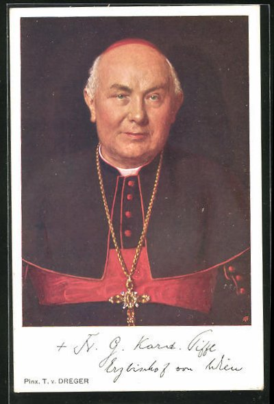AK Portrait des Erzbischofs von Wien, Kardinal Piffl