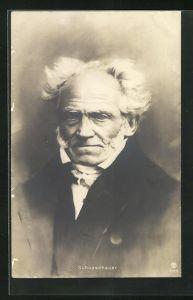AK Philosoph Arthur Schopenhauer, Portrait mit schlohweissem Haar
