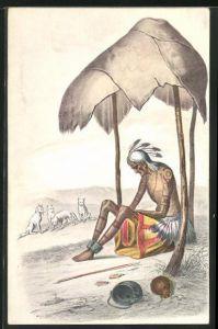 AK Alter Indianer wurde von seinem Stamm verlassen und ist dem Tode geweiht