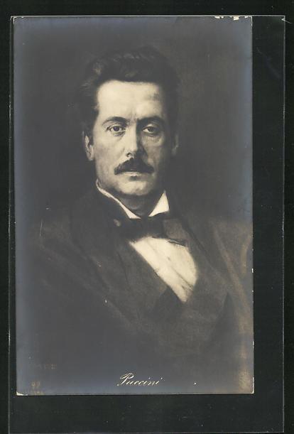 AK Komponist Giacomo Puccini, Halbportrait im Anzug