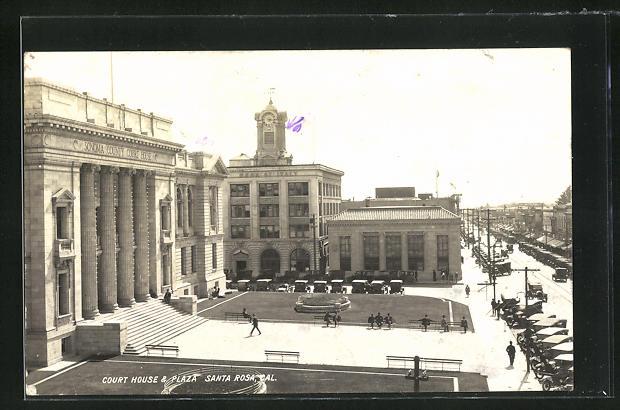 AK Santa Rosa, CA, Court House and Plaza