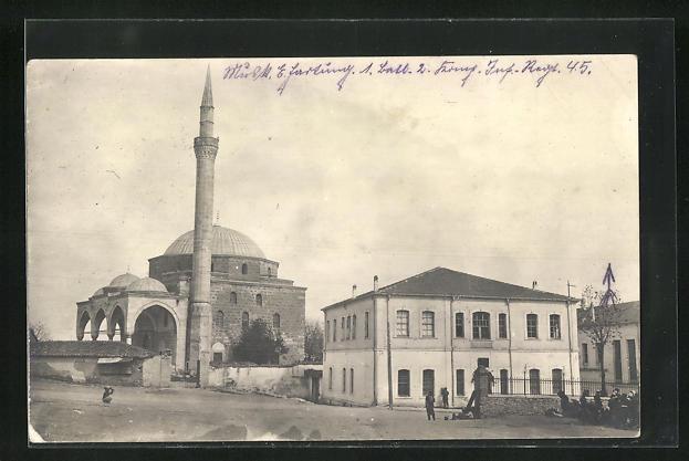 AK Skopje / Ueskueb, Moschee mit Minarett