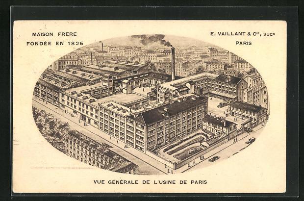 AK La Norville, E. Vaillant & Cie, Sucr, Maison Frere, Fondee en 1826, Vue generale d el`Usine de Paris