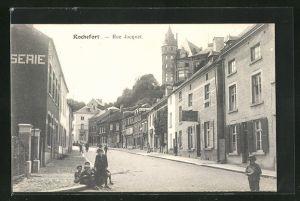 AK Rochefort, Rue Jacquet, Strassenpartie