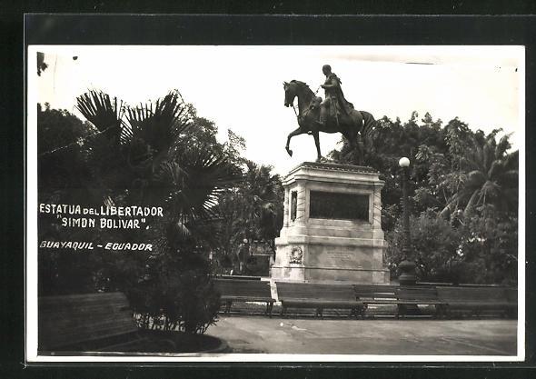 AK Guayaquil, Estatua del Libertador Simon Bolivar