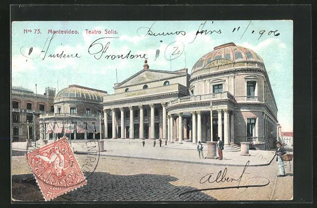 AK Montevideo, Vista de Teatro Solis