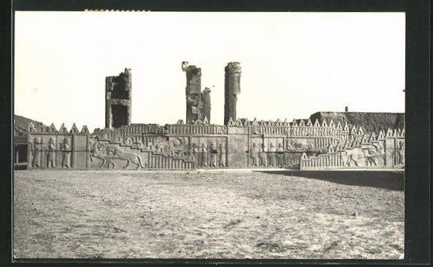 AK Shiraz, Überreste des Eingangs mit Treppenaufgang zum Palast in Persepolis