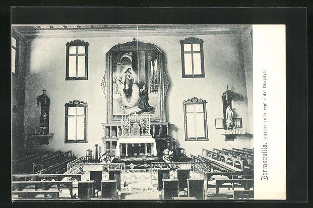 AK Barranquilla, Interior de la capilla del Hospital
