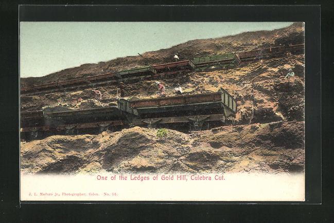 AK Culebra Cut, One of the Ledges of Gold Hill