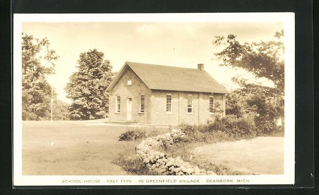 AK Dearborn, MI, School House in Greenfield Village