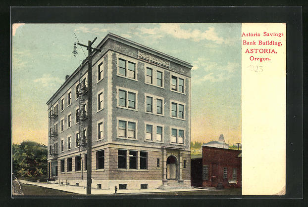 AK Astoria, OR, Astoria Savings, Bank Building