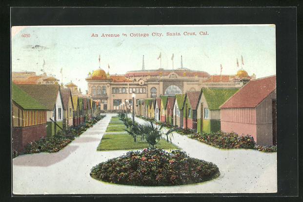 AK Santa Cruz, CA, An Avenue in Cottage City