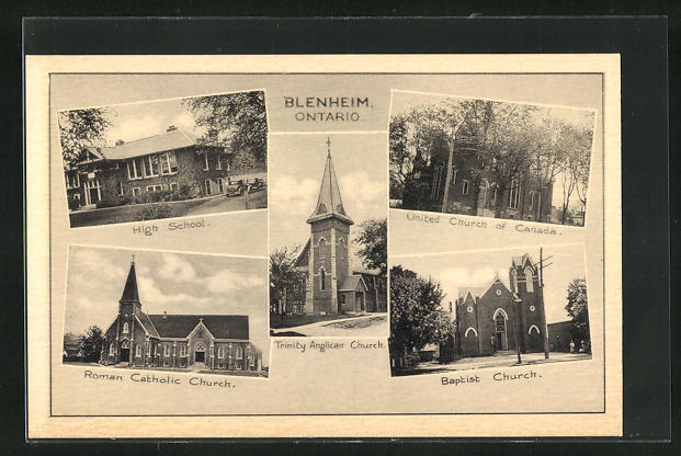 AK Blenheim / Ontario, High School, Baptist Church, United Church of Canada