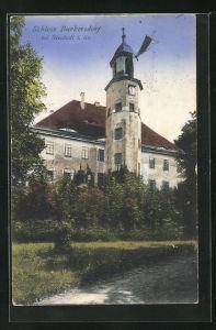 AK Burkersdorf i. Sa., Blick auf Schloss Burkersdorf