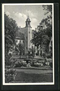 AK Burkersdorf i. Sa., NSV.-Mütter-Erholungsheim Schloss Burkersdorf aus dem Garten gesehen