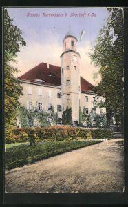 AK Burkersdorf i. Sa., Blick auf das Schloss Burkersdorf