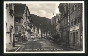 AK Hornberg / Schwarzwald, Blick in die Hauptstrasse