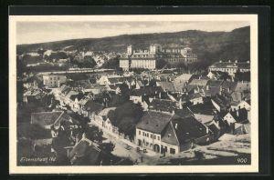 AK Eisenstadt, Teilansicht des Ortes mit Feste