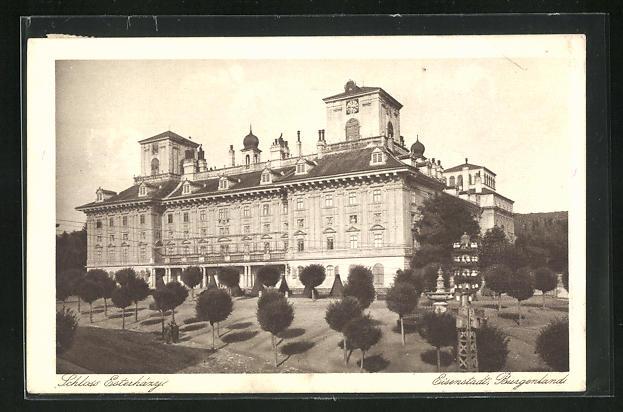 AK Eisenstadt, Blick auf das Schloss Esterházy