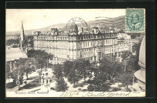 AK Montreal, Blick aufs Windsor Hotel