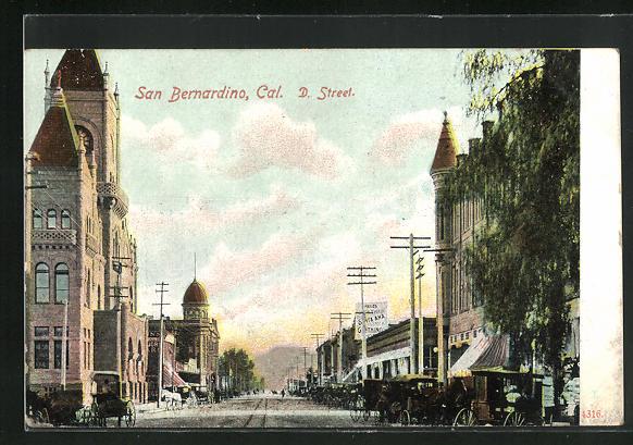 AK San Bernardino, CA, , Blick in die D. Street
