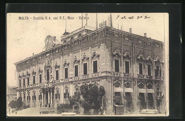 AK Vailetta / Malta, Castille R.A. and R.E. Mess