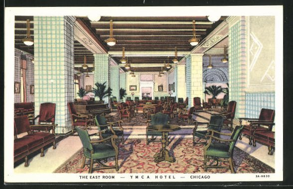 AK Chicago, IL, YMCA Hotel, 826 South Wabash Avenue, the East Room