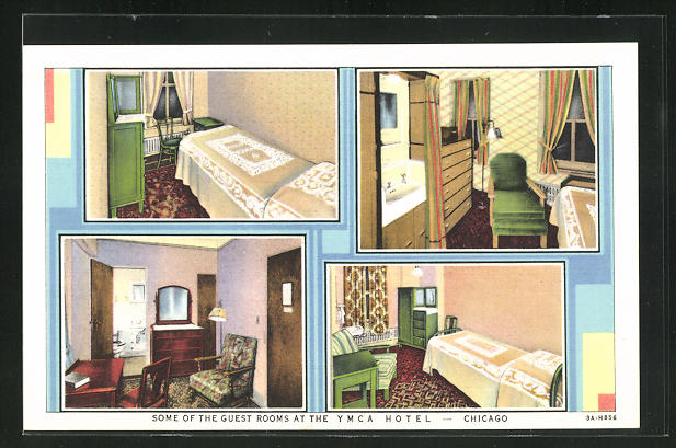 AK Chicago, IL, YMCA Hotel, 826 South Wabash Avenue, some of the Guest Rooms