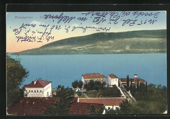 AK Hercegnovi / Castelnuovo, Panorama mit Küste