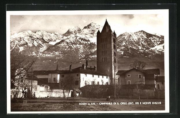 AK Aosta, Campanile di S. Orso e Monte Emilius