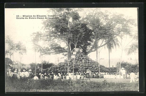 AK Kisantu, Mission, Grotte de Notre-Dame de Lourdes