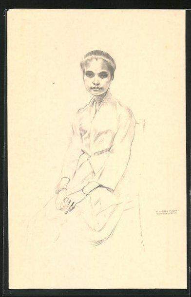 AK Timor, Empire Portugais, Maria Guilhermina, Porträt