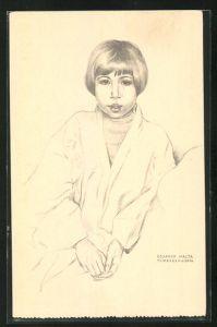 Künstler-AK Timor. Eugénia - metisse, Junge Einheimische im Porträt
