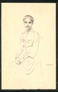 Künstler-AK Timor, Maria Guilhermina im Porträt