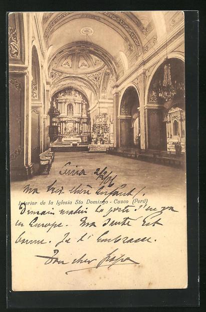 AK Cuzco, Interior de la Iglesia Sto Domingo, Inneres der Kirche